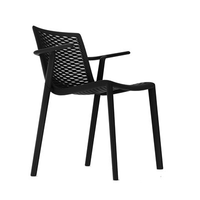 NETKAT RESIN ARMCHAIR in Black