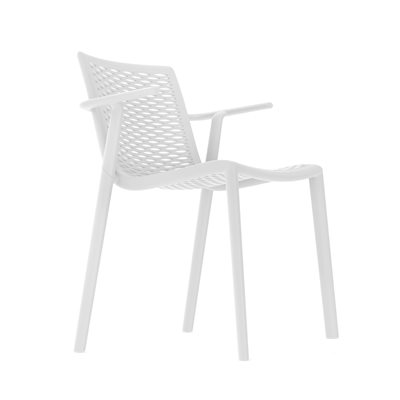 NETKAT RESIN ARMCHAIR in White