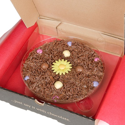 MOTHERS DAY CHOCOLATE PIZZA - 7 inch