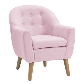 Star kids tub armchair in pink kids chairs sofas for Kids pink armchair