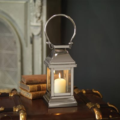 CULINARY CONCEPTS SMALL STATION LANTERN in Nickel Plate Stainless Steel