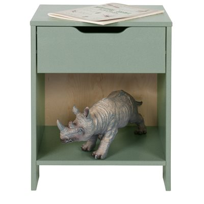 NIKKI BEDSIDE TABLE in Army Green