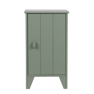 Nikki Bedside Cabinet in Army Green by Woood