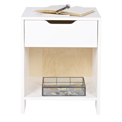NIKKI BEDSIDE TABLE in White