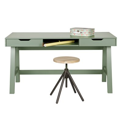 NIKKI COMPUTER & OFFICE DESK in Army Green