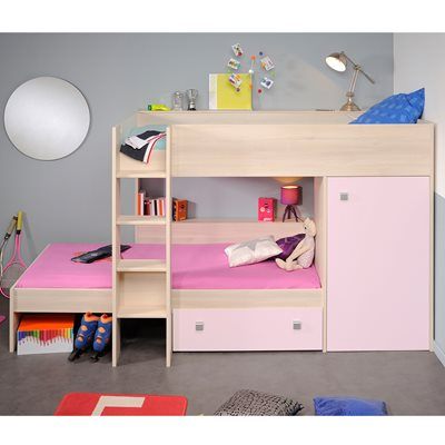 PARISOT NINETY BUNK BED in Pink