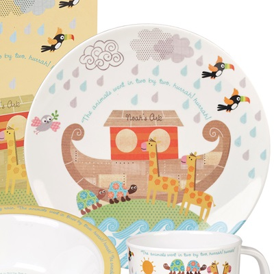 noah u0027s ark melamine dinner set with gift box gifts cuckooland