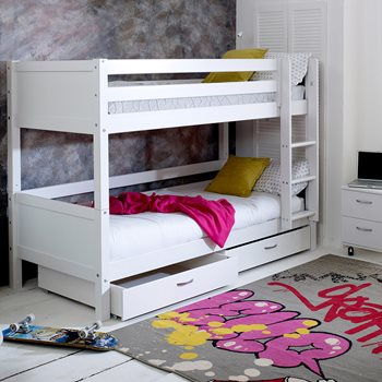 Flexa Nordic Kids Bunk Bed 2 In White