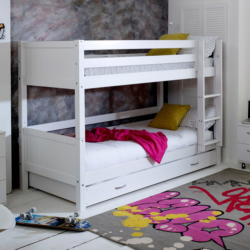 Flexa Nordic Kids Bunk Bed 3 In White Kids Avenue