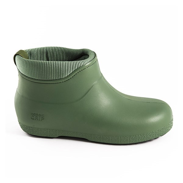 Nordic Grip Ice Lock Boots in Olive Green