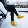 Bright Yellow Winterproof Wellies - Non-Slip on Ice and Snow