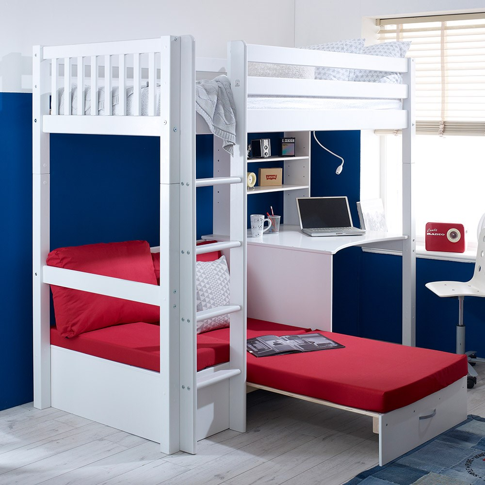 Flexa Nordic Kids High Sleeper 3 In White Kids Avenue