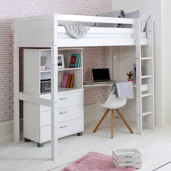 inspiration office combo desk gorgeous with loft and bed futon bunk metal underneath a