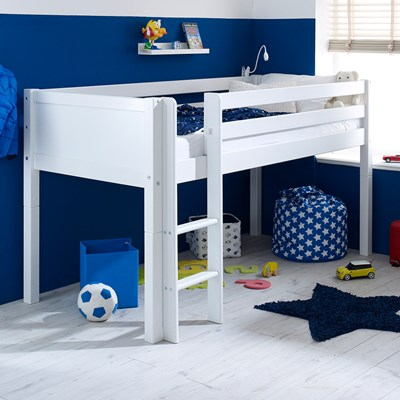 Flexa Nordic Kids Mid Sleeper 1 In White. Flexa Furniture