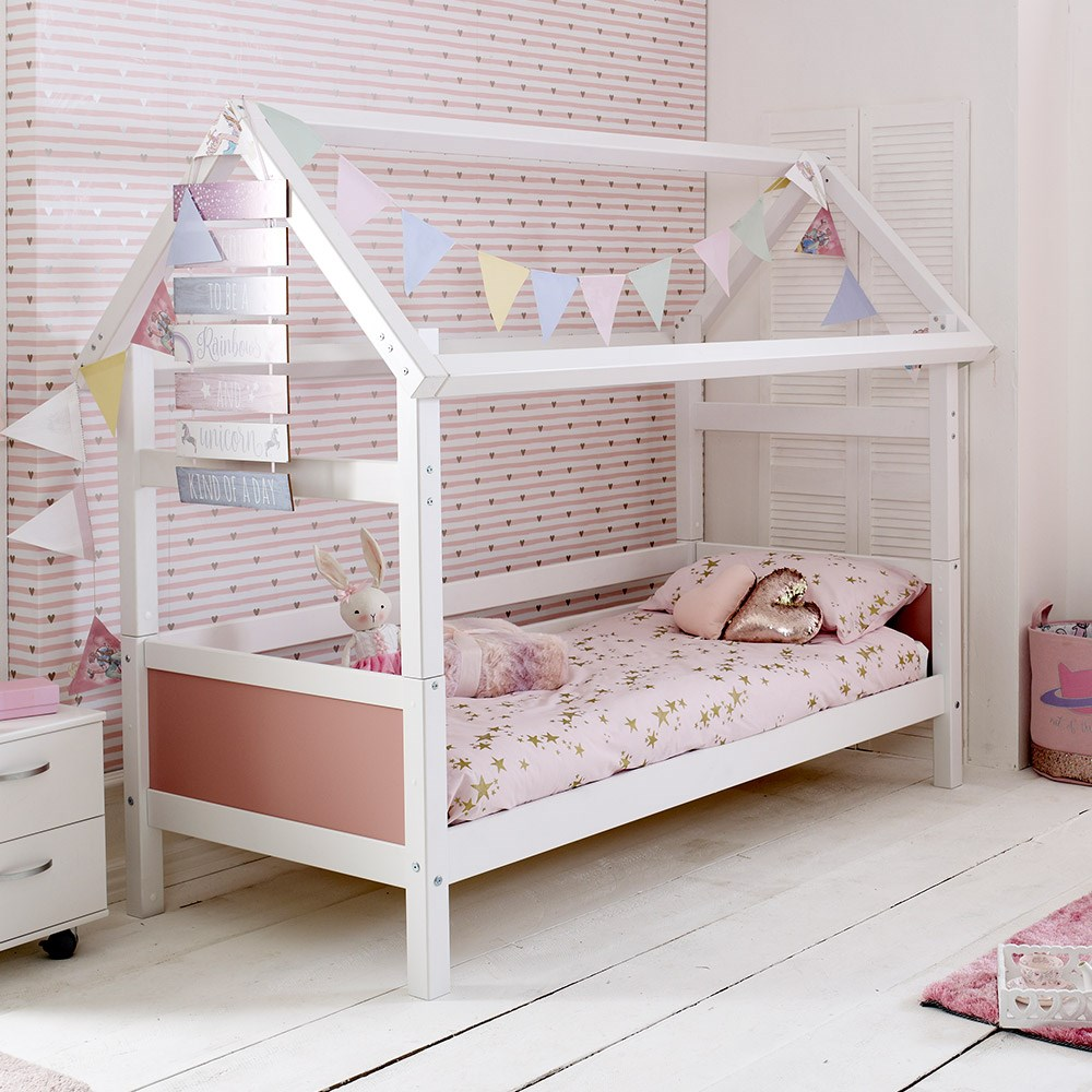 Flexa Tent Bed.Flexa Nordic Playhouse Bed Frame 1 In White