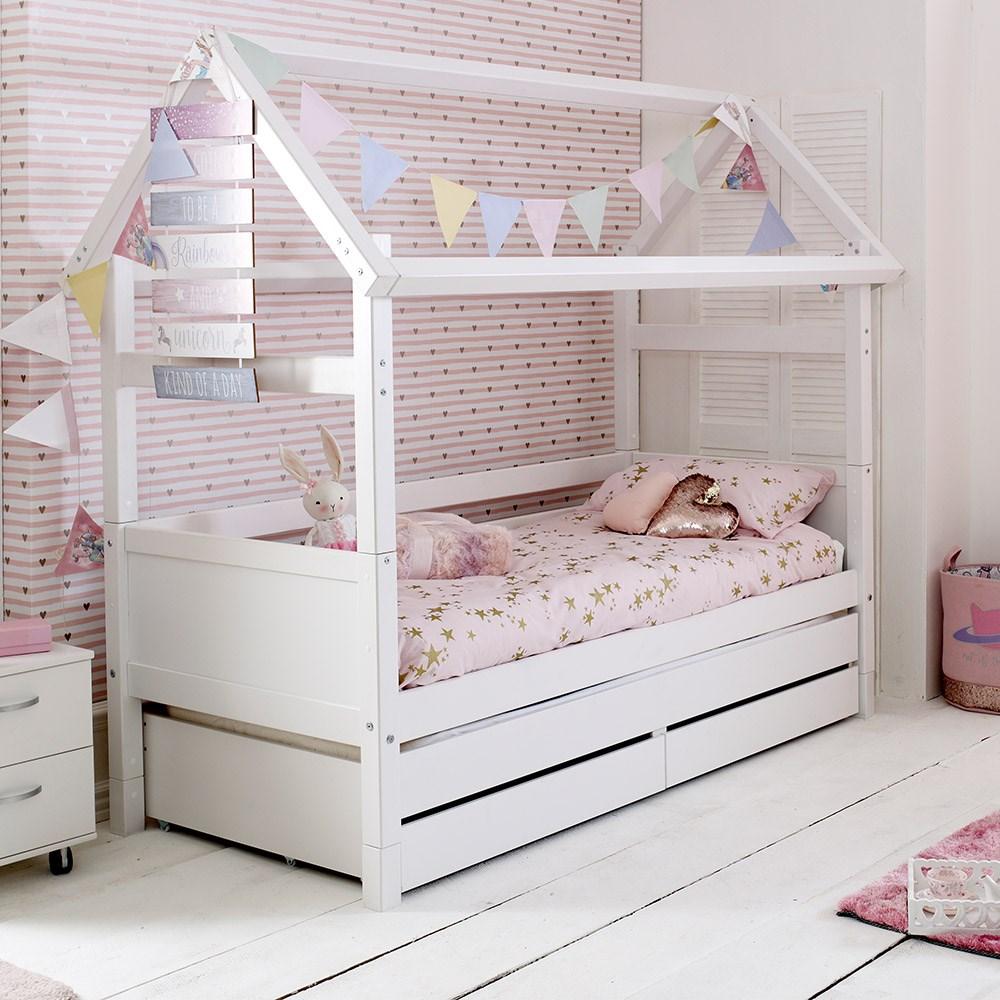 Flexa Kids Bed.Flexa Nordic Kids House Bed Frame 2 In White Kids Avenue Cuckooland