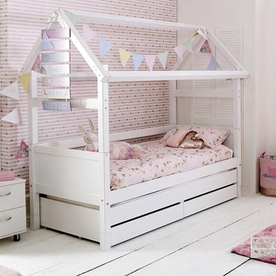 Flexa Nordic Kids House Bed Frame 2 In White Kids Avenue