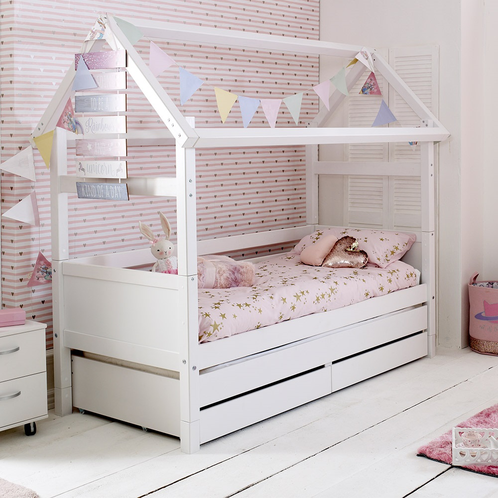 Flexa Nordic Kids House Bed Frame 2 In White - Kids Avenue ...