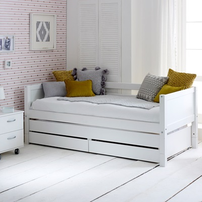 childrens trundle beds flexa nordic day bed with trundle bed and drawers in 11120