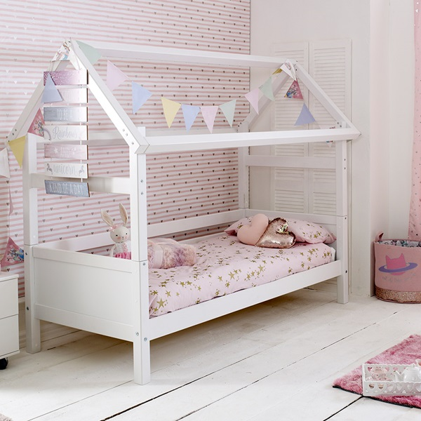 Flexa Nordic Kids House Bed Frame 1 In White Kids Avenue