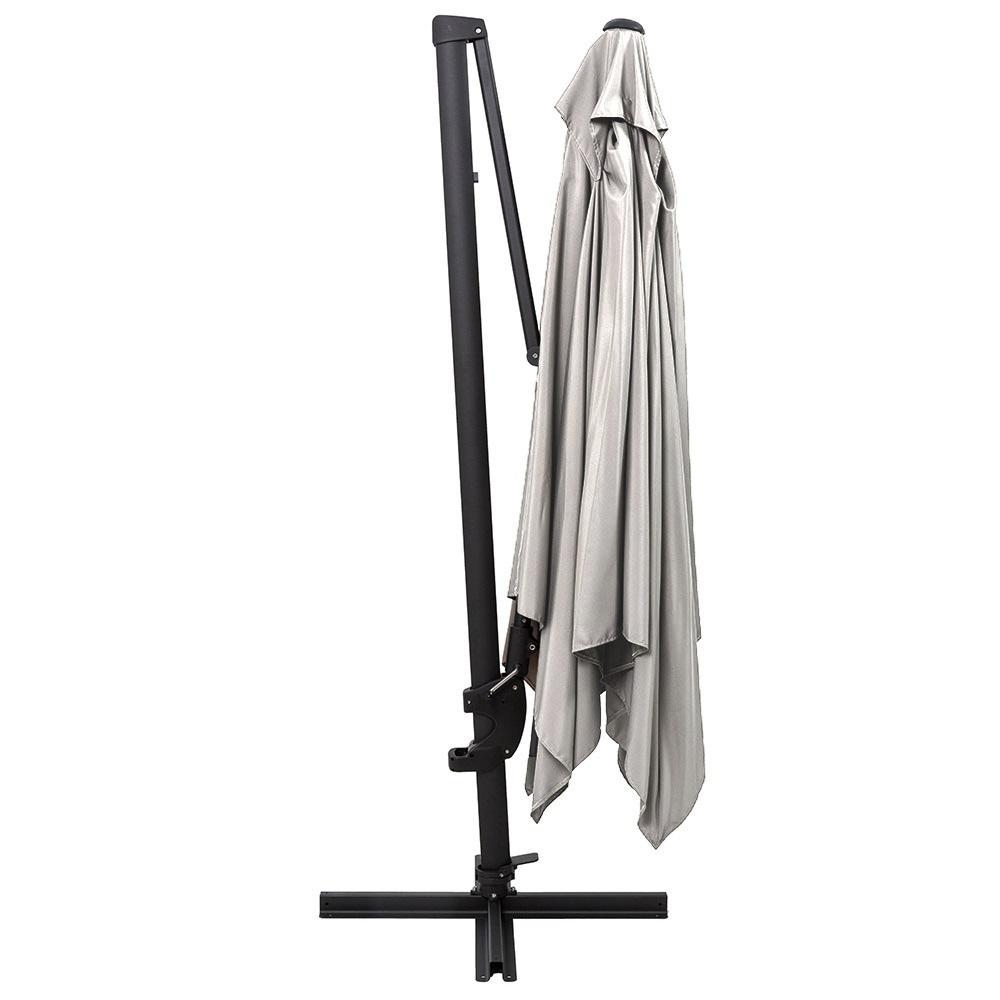 norfolk deluxe cantilever parasol in grey garden parasols bases. Black Bedroom Furniture Sets. Home Design Ideas