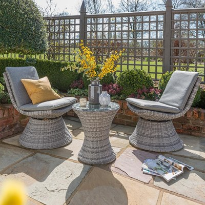 Superb Norfolk Leisure 2 Seater Garden Dining Table And  ...