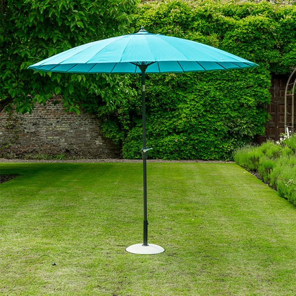 Oriental Aqua Blue Garden Umbrella