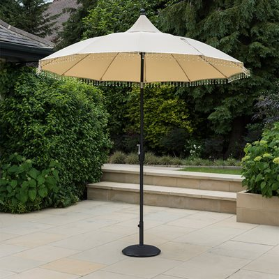 CARROUSEL ALUMINIUM GARDEN PARASOL in Cream