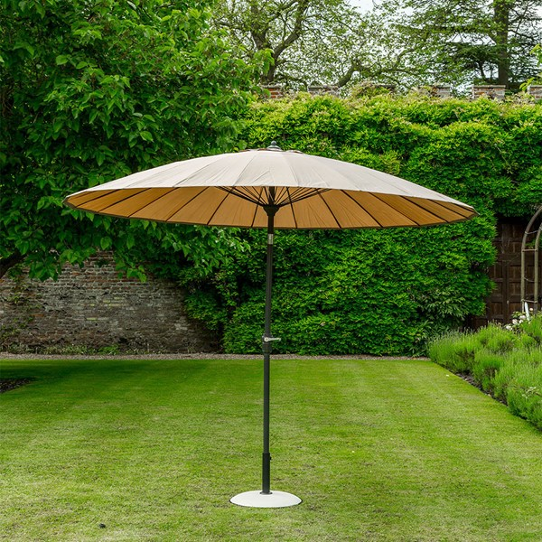 Taupe Outdoor Garden Parasol Umbrella