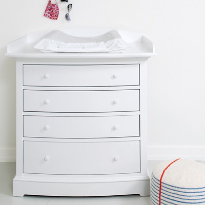 Luxury Baby Change Unit In White With Removable Top