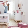 Baby changing unit nursery furniture in white