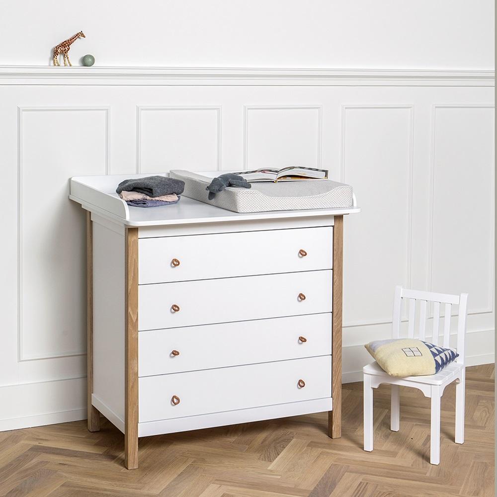 oliver furniture wood nursery dresser in white oliver furniture cuckooland. Black Bedroom Furniture Sets. Home Design Ideas