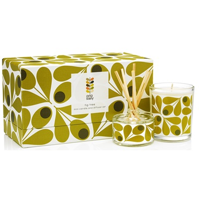 ORLA KIELY Candle & Diffuser Gift Set in Fig Tree
