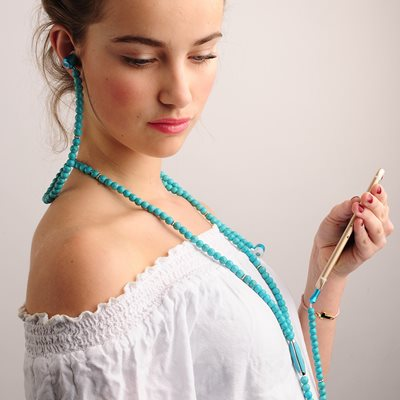 THE ONE FASHION HEADPHONES in Turquoise