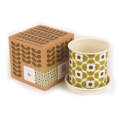 ORLA KIELY Plant Pot in Green - Large