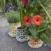ORLA KIELY Plant Pot in Orange -  Small