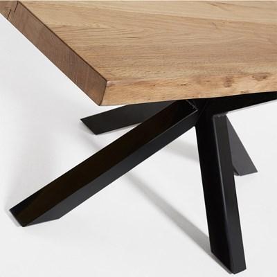 Arya Cross Leg Dining Table In Black Oak Casa Lujo Cuckooland