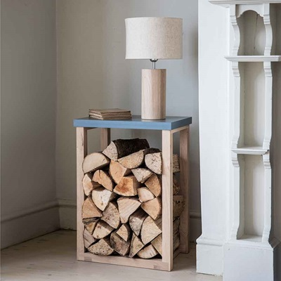 GARDEN TRADING CLOCKHOUSE LOG TABLE in Charcoal and Oak