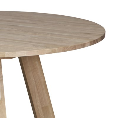 ... Oak Round Table Untreated ...