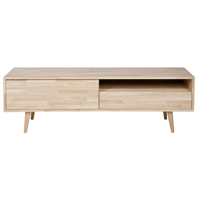 Retro Oak Tv Stand In Natural Finish Retro Furniture Cuckooland # Meuble Tv Retro