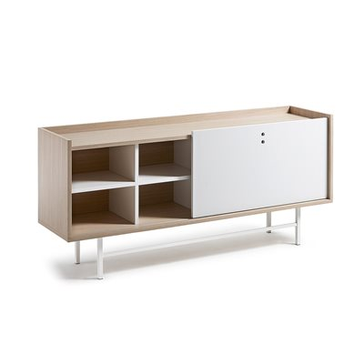 LISH WOOD SIDEBOARD in White and Oak