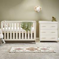 Obaby Nika Cot Bed 2 Piece Nursery Furniture Set