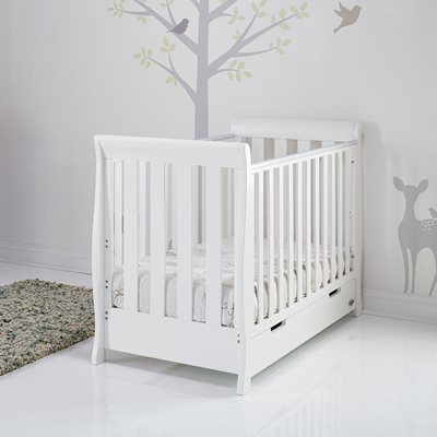 Obaby Stamford Mini Sleigh Cot Bed in White