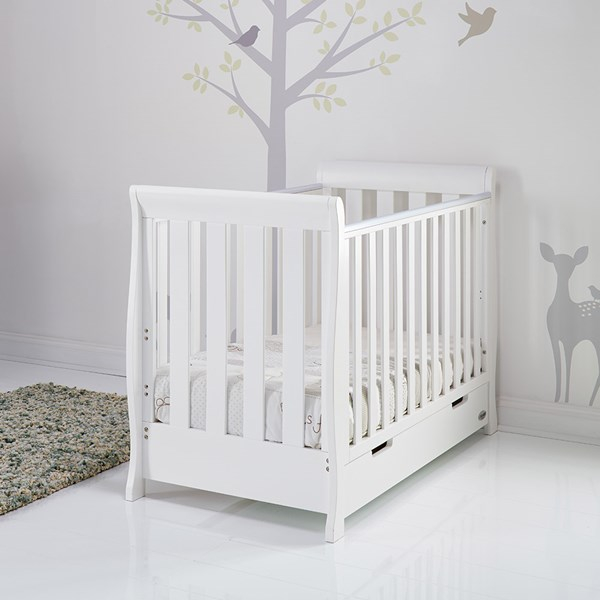 Stamford Mini Cot Bed in White by Obaby