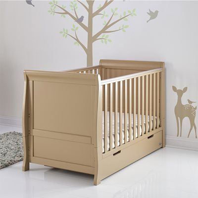 STAMFORD COT BED in Iced Coffee by Obaby