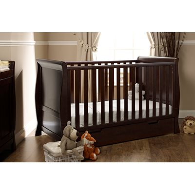 STAMFORD COT BED in Walnut by Obaby