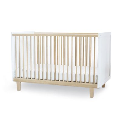 Oeuf Rhea Cot Bed in White & Birch