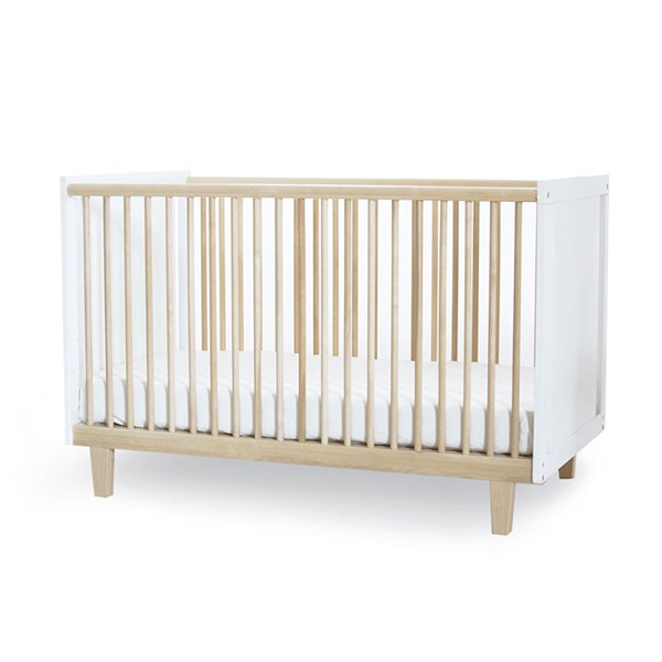 Oeuf Rhea Cot Bed in White and Birch