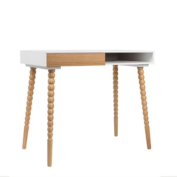 Zuiver Scandinavian Desk Workstation in White & Oak