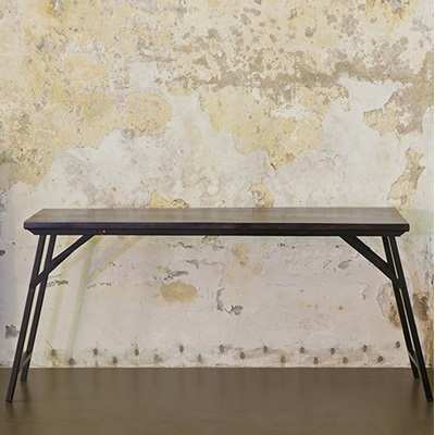 INDUSTRIAL FOLDING DINING TABLE in Black